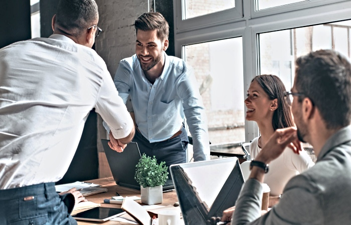 Business Managers Collaborating for their Customers